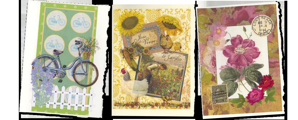 bike sunflower stamp